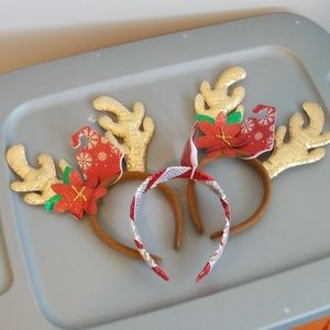 Set of 3 Christmas head bands-New